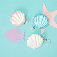 CUPCAKES & CARTWHEELS ASSORTED SEA SHELL COIN PURSE