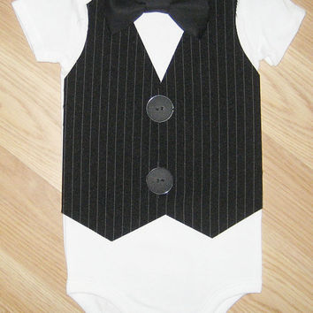 Little man tuxedo Baby tuxedo Baby bow tie Little man birthday outfit Baby boy birthday outfit Infat boy coming home Ring bearer suit