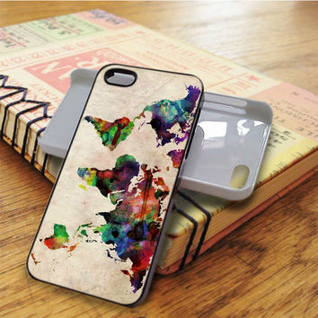 World Map Urban Watercolor iPhone 5C Case
