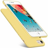 DTTO Case for Apple iPhone 7 and iPhone 8, 4.7inch, [Romance Series] Liquid Silicone Gel Rubber Shock-Absorption Bumper Cover, Anti-Scratch Back, Duckling Yellow