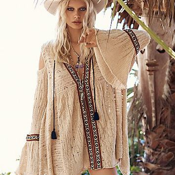 Free People Womens For the Love of Flowers Tunic