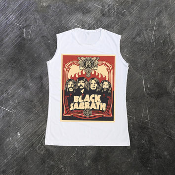 Black Sabbath Muscle Tank Top Tee Shirt Women T-Shirt Size S M L