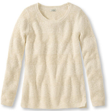 Cotton Shaker-Stitch Sweater, Pullover: Crewnecks | Free Shipping at L.L.Bean