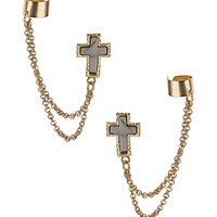 Double Cross Ear Cuff - Jewelry - Accessories - Topshop USA