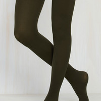 Accent Your Ensemble Tights in Olive | Mod Retro Vintage Tights | ModCloth.com