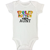SPOILED ROTTEN BY MY AUNT - Cute Kids Onesuit