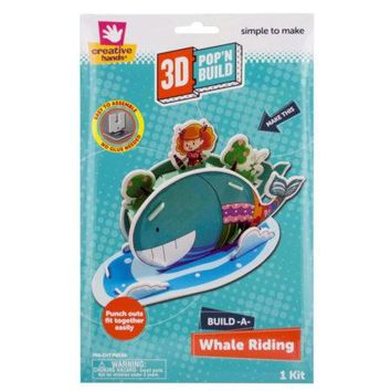 Build-A-Whale Riding 3D Pop'N Build Kit