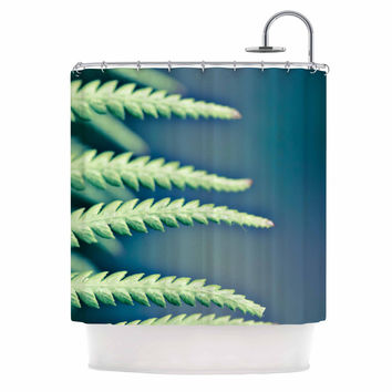"Ann Barnes ""Into the Forest"" Blue Green Shower Curtain"