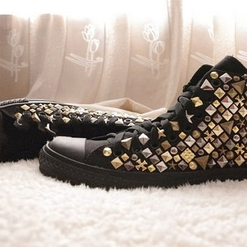 Unique punk style studed shoes by hicase on Etsy