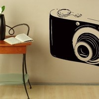Wall Decals Photo Camera Decal Vinyl Sticker Home Decor Bedroom Interior Window Decals Living Room Art Murals Chu1421