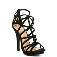 Black Naturally Strappy Heels
