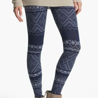 Lily White Print Leggings (Juniors) | Nordstrom