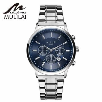 Men Watches Top Brand Luxury Men Quartz Watch Man military Full Steel Multifunction Date Fashion Sport Clock Relogio Masculino