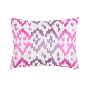 Blissliving Home Ikat Orchid 12 by 16 inches Decorative Pillow, Purple
