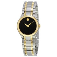 Movado Collection Black Dial Ladies Watch 0606897