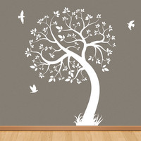 Nursery tree decal removable wall sticker tree by QlassicWalls
