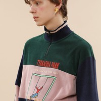 Tyakasha Park High-neck Retro Sweatshirt