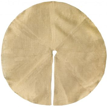 "Rustic Natural Burlap Tree Skirt 46"" diameter"