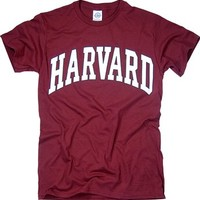 Harvard University Arched Block Tee Crimson New York Fashion Police XL