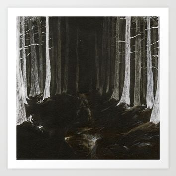 Season of the Land - Haunted Forest Art Print by michael jon