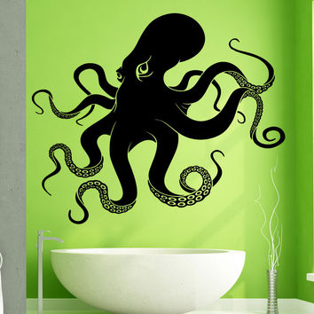 Vinyl Wall Decal Sticker Big Octopus #5344