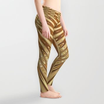 Golden Mali | Fractal Ruffles Leggings by Webgrrl