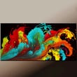 Abstract Canvas Art Painting - 48x24 Contemporary Original Wall Art by Destiny Womack - dWo -  Rhapsody II