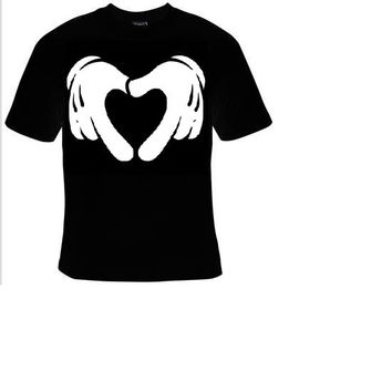 cartoon hands making love heart t shirt funny great cute gift tshirts