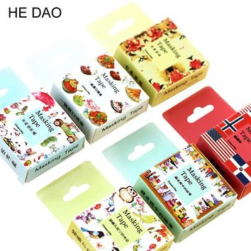 24 Style 1 Pc / Pack Size 15 Mm*10m Diy Yellow Bunny Washi Tapes Masking Tape Cartoon Tapes School Supplies Material Escolar