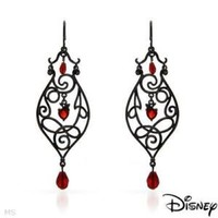 DISNEY Couture Snow White Collection Simulated Gems 78mm Earrings 8g *$120