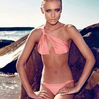 One Shoulder Swimwear Swimsuit Female Sexy Bikini = 5836524865