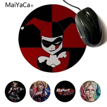 MaiYaCa Beautiful Anime Harley Quinn Suicide Squad Rubber Pad to Mouse Game 200x200mm 220x220mm Round Mouse Pad