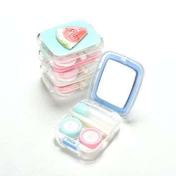 Plastic Eyewear Accessories Cute Watermelon Design Contact Lens Box Case Holder Container Case For Lenses Eye Color Glasses Box