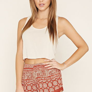 Medallion Print Shorts