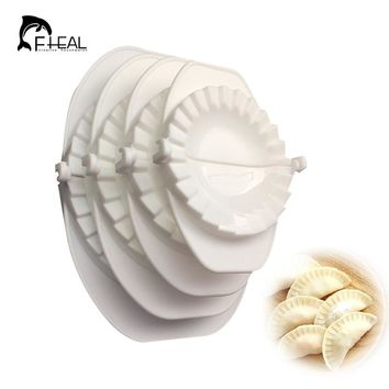 FHEAL 4pcs/set Press Ravioli Dough Pastry Pie Dumpling Maker Gyoza Mold Mould Tool 4 Size Easy Eco Friendly Dumpling Mould