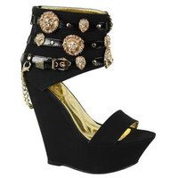 Romina-117 High Heel #wedges #shoes with #Lions Open toe