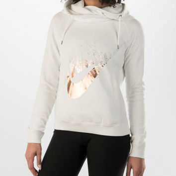Women's Nike Rally Funnel Metal Hoodie | Finish Line