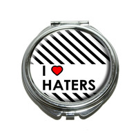 I Love Heart Haters Compact Mirror