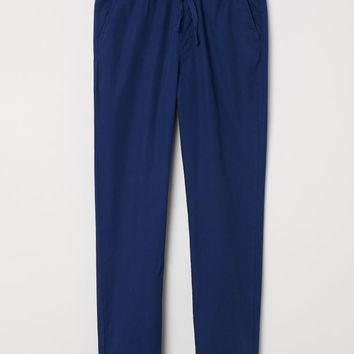 Cotton Pull-on Pants - Dark blue - Kids | H&M US