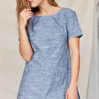 Urban Renewal Remade Back Pleat Shift Dress | Urban Outfitters