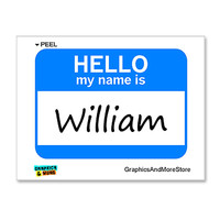 William Hello My Name Is Sticker