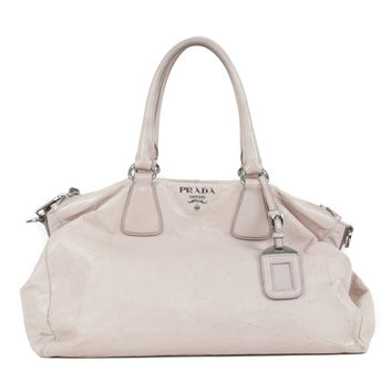 White Leather Slouchy Purse