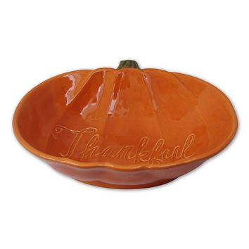 SONOMA life + style ''Thankful'' Pumpkin Bowl