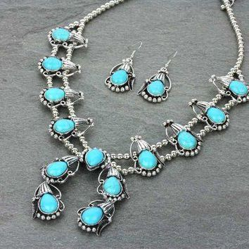 Turquoise Squash Necklace Set