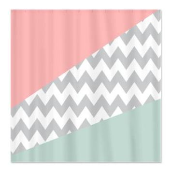 Coral Mint Green Chevron Abstract Shower Curtain> Shower Curtains> CLICK HERE-4 LOWER PRICES-GetYerGoat.com