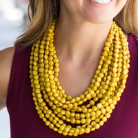 Gameday Beaded Necklace - Gold