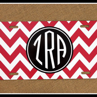 License Plate Car Tag Personalized Monogrammed Car Tag Car Accessories Chevron License Plates New Car Sweet 16