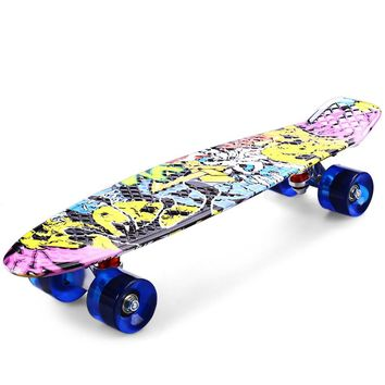 Freestyle Printing Street 22 inches SkateBoard Graffiti Style Cruiser