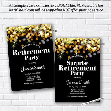 Retirement Invitations,  Retirement party Invitation,  Retirement Celebration retro vintage Invite, chalkboard blackboard design- card 1022