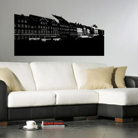 Amsterdam Skyline City Sights Wall Sticker Decal 2454